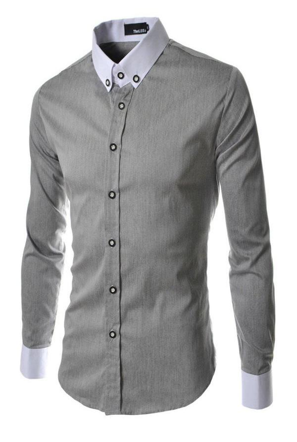 Ease เสื้อเชิ้ตแขนยาวผู้ชาย รุ่น SH1 (Grey)